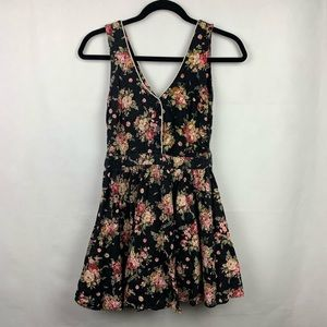 Lucca Couture Dresses - Lucca Couture Black Floral Dress Romantic Medium